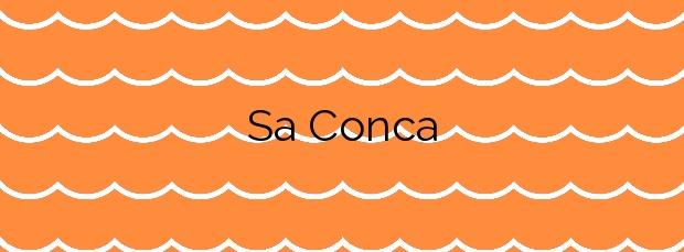 Información de la Playa Sa Conca en Castell-Platja d'Aro