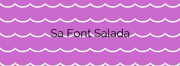 Información de la Playa Sa Font Salada en Artà
