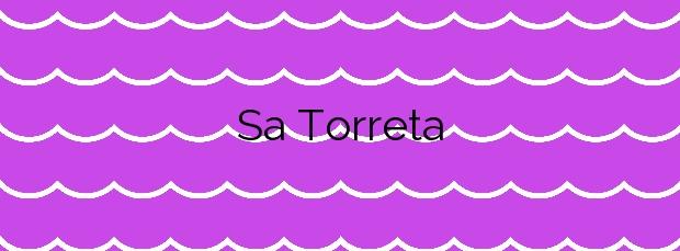Información de la Playa Sa Torreta en Formentera