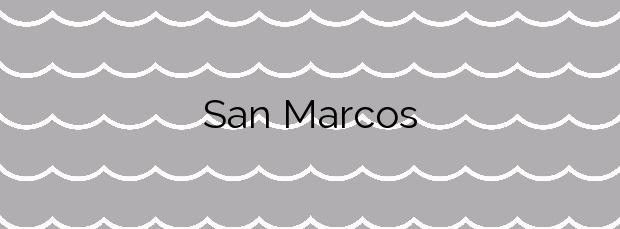 Información de la Playa San Marcos en Agulo