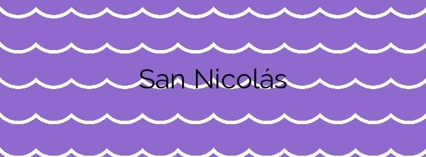 Información de la Playa San Nicolás en Adra