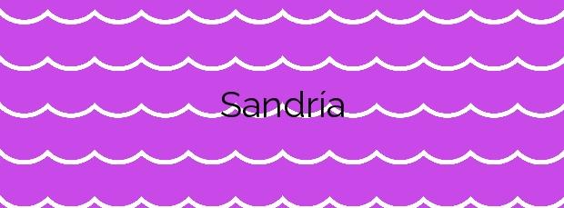 Información de la Playa Sandría en Camariñas