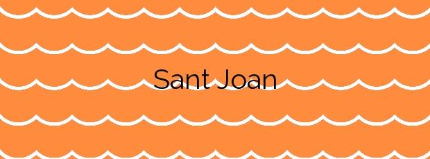 Información de la Playa Sant Joan en Montgat