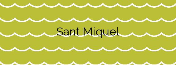 Información de la Playa Sant Miquel en Barcelona