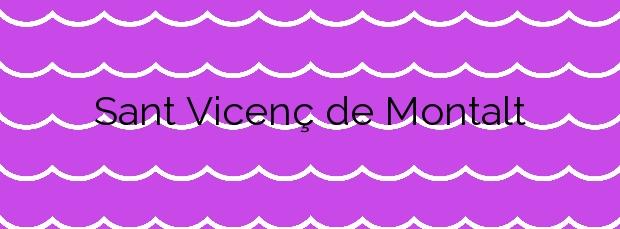 Información de la Playa Sant Vicenç de Montalt en Sant Vicenç de Montalt