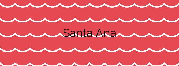Información de la Playa Santa Ana en Valdés