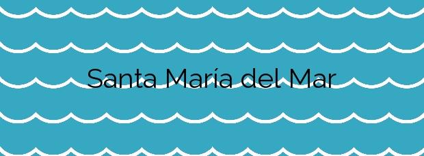 Información de la Playa Santa María del Mar en Cádiz