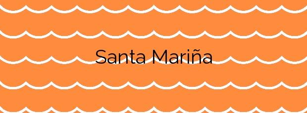 Información de la Playa Santa Mariña en Sanxenxo