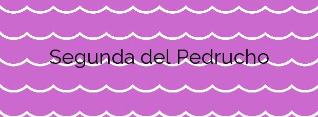 Información de la Playa Segunda del Pedrucho en San Javier