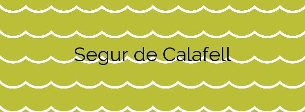 Información de la Playa Segur de Calafell en Calafell