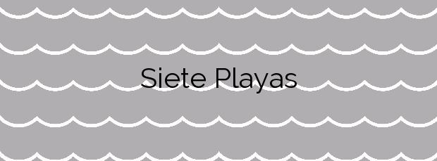 Información de la Playa Siete Playas en Mutriku