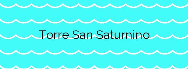 Información de la Playa Torre San Saturnino en Cambados