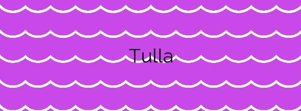 Información de la Playa Tulla en Bueu