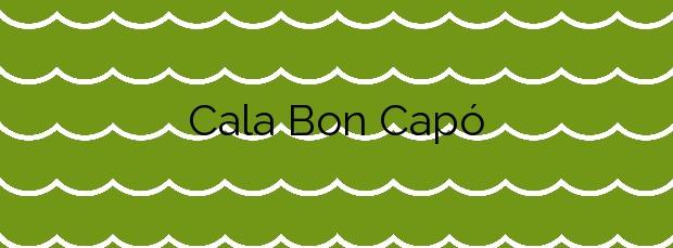 Información de la Cala Bon Capó en L'Ametlla de Mar