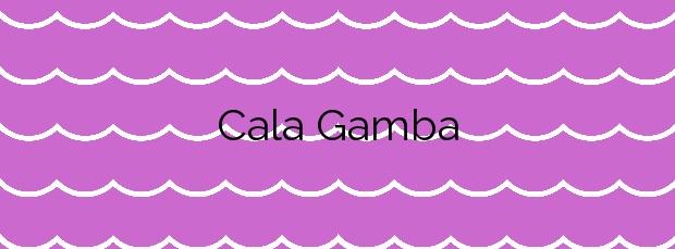 Información de la Cala Gamba en Palma de Mallorca