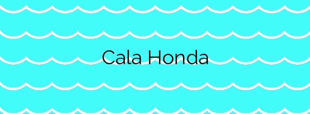 Información de la Cala Honda en Lorca