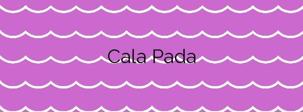 Información de la Cala Pada en Santa Eulalia del Río