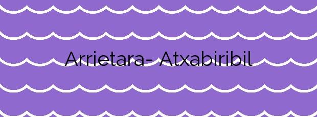 Información de la Playa Arrietara- Atxabiribil en Sopela