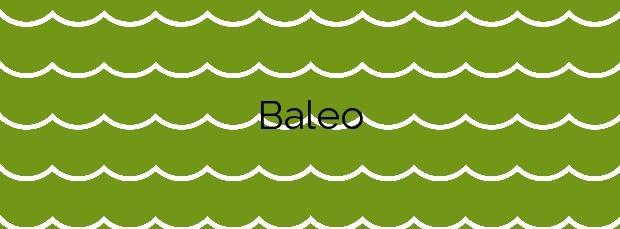 Información de la Playa Baleo en Valdoviño