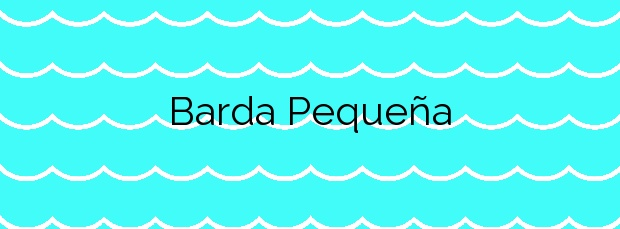 Información de la Playa Barda Pequeña en Ponteceso