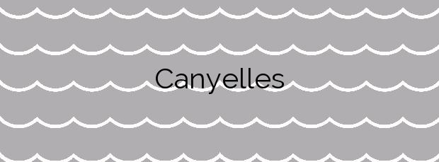 Información de la Playa Canyelles en Lloret de Mar