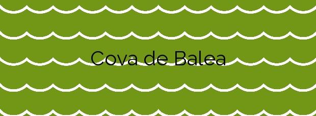Información de la Playa Cova de Balea en Cangas