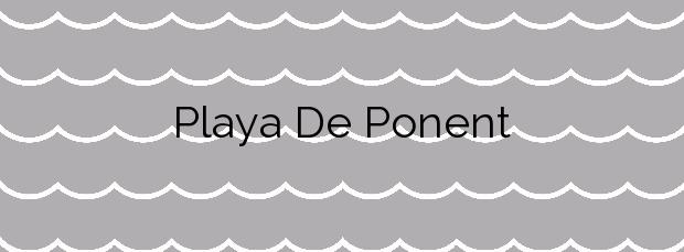 Información de la Playa De Ponent en Mataró