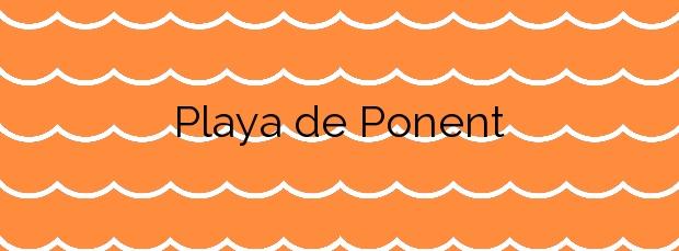Información de la Playa de Ponent en Vilassar de Mar