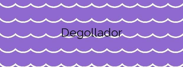 Información de la Playa Degollador en Ciutadella de Menorca