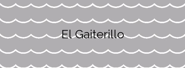 Información de la Playa El Gaiterillo en Albuñol