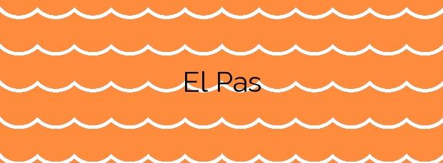 Información de la Playa El Pas en El Port de la Selva