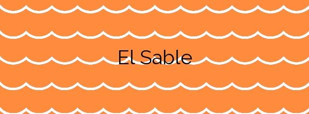 Información de la Playa El Sable en Val de San Vicente