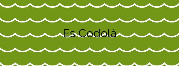 Información de la Playa Es Codolá en Sant Josep de sa Talaia