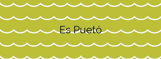 Información de la Playa Es Puetó en Sant Antoni de Portmany