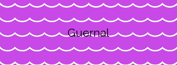 Información de la Playa Guernal en O Grove