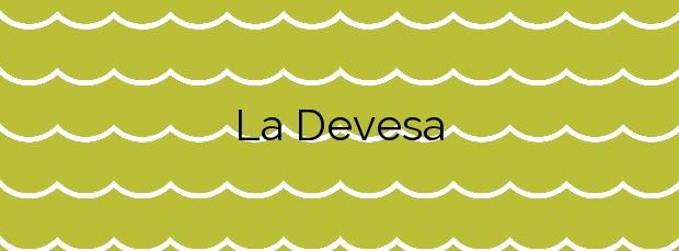 Información de la Playa La Devesa en Valencia