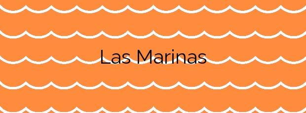 Información de la Playa Las Marinas en Vera
