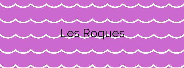 Información de la Playa Les Roques en Calella