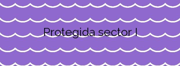 Información de la Playa Protegida sector I en El Prat de Llobregat