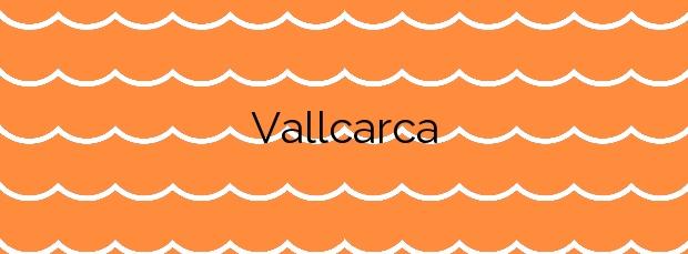 Información de la Playa Vallcarca en Sitges