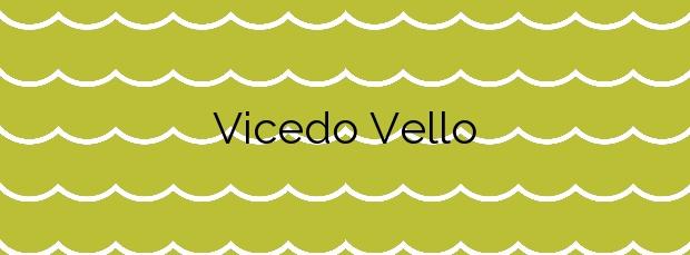 Información de la Playa Vicedo Vello en O Vicedo